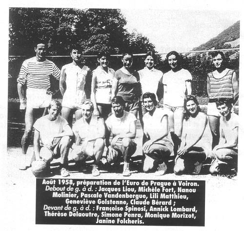 1958 Eq France A  vers le CE en Tchécoslovaquie - 9è/12