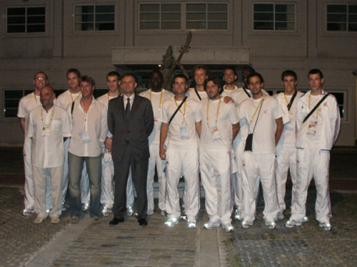 2007 Equipe de France Universiade Bagkok/Thailande réception