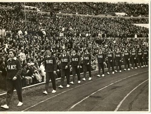1952 Equipe de France A - premier CM à Moscou - 7è/8