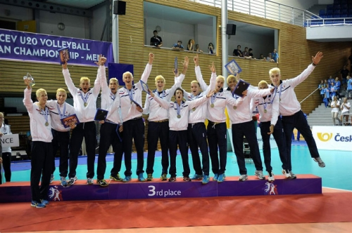 2014 Equipe de France Junior à l'EURO U20 - le podium