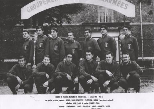1965 1966 BJ Equipe de France militaire