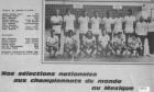 1974 Eq France A Champt Monde Mexique/16è