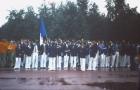 1973 Universiade de Moscou - les volleyeurs avant le défilé