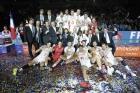 2015 Equipe de France Championne d'Europe - médaille d'or, et présence des Présidents FFVB et LNV