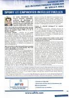 - VBMagazine avril 2009  Sport et capacités intellectuelles / interview de JeanFrançois Toussaint